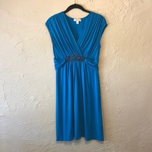 Dress Barn Turquoise Blue Knee Length Dress 6